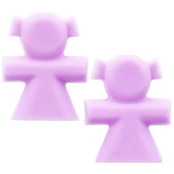 Molde 2 meninas (Molde para 2 sabonetes)
