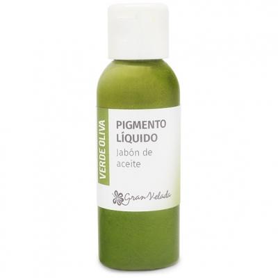 Colorante verde oliva jabon de aceite pigmento liquido