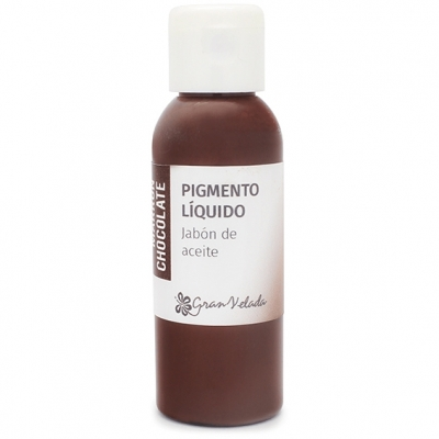 Colorante marron chocolate jabon de aceite pigmento liquido