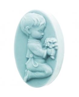 Molde detalle comunion pastilla de jabon niño