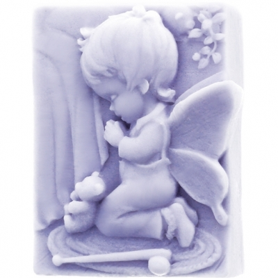 Molde angelito bebe rezando