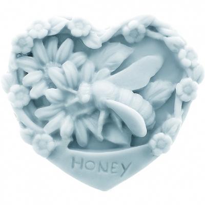 Molde para fazer sabonete de mel, coração.