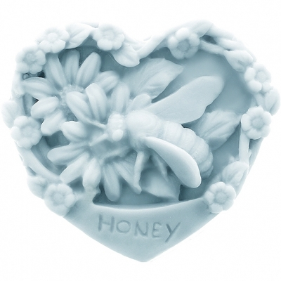Molde jabon de miel corazon
