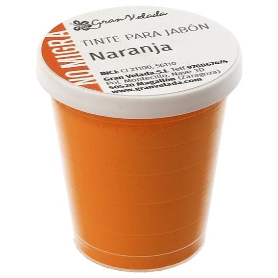Tinte jabon naranja que no migra