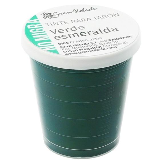 Tinta sabonete que nao migra verde-esmeralda em po