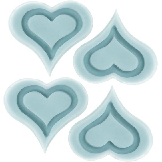 Molde 3 Corações