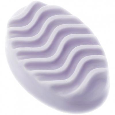 Molde silicona jabon masajeador ovalado ondulado