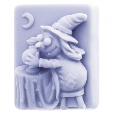 Molde para fazer pastilha de sabonetes, Bruxa com Bola de Cristal