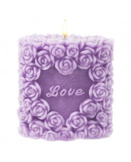 Molde velas rositas love