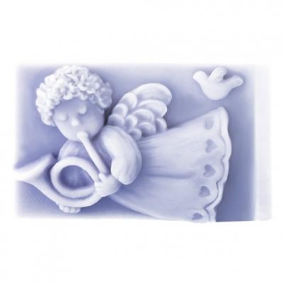 Molde angelito volando con trompeta