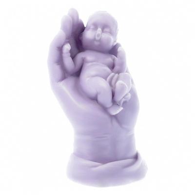 Molde mano abierta con bebe 3d