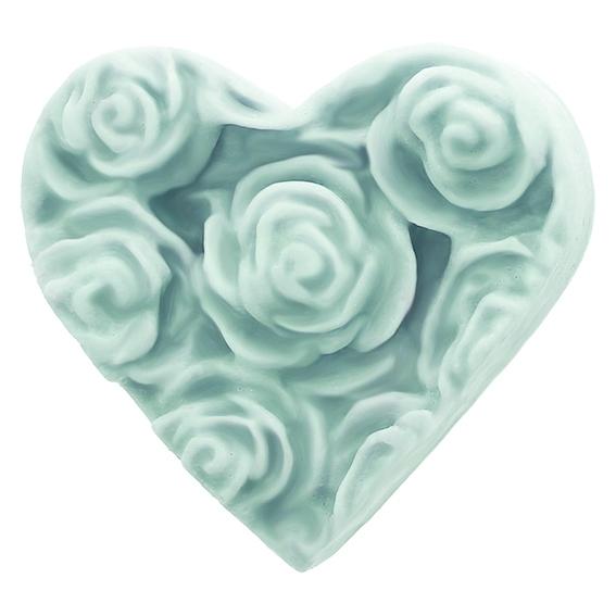 Molde para fazer sabonete Coração com Rosinhas