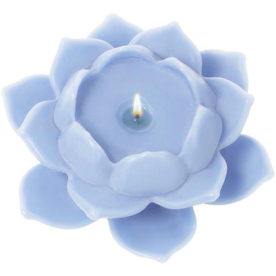 Molde velas piscina flor de lotto brillante