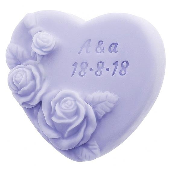 Molde corazon con rosas para personalizar