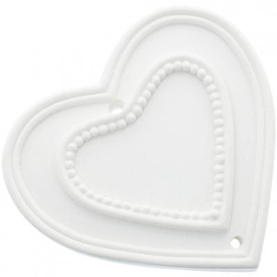 Molde para fazer figuras perfumadas de escaiola, Coração com Pontinhos.
