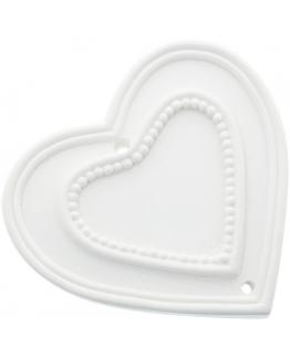 Molde para fazer figuras perfumadas de escaiola Coração com Pontinhos