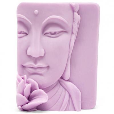 Molde rostro de buda con flor de loto
