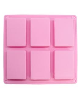 Molde 6 pastillas de jabón rectangulares