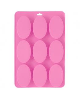 Molde 9 pastilhas ovaladas clássicas.