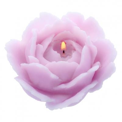 Molde de velas rosa clasica