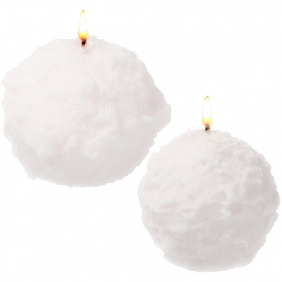 Molde velas bola de nieve