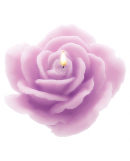 Molde velas rosa abierta