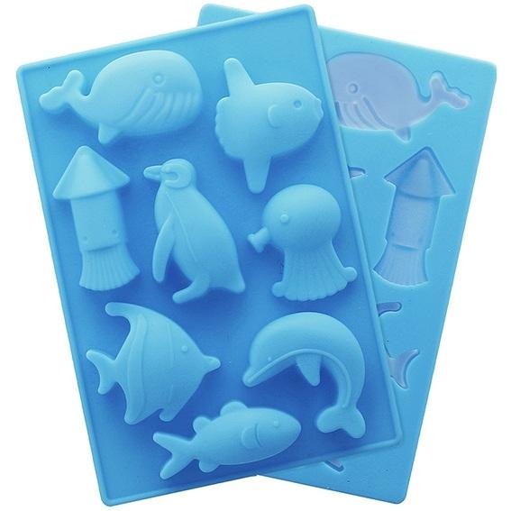 Molde silicone animais marinhos