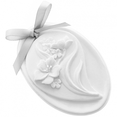 Molde ceramica perfumada medallon floral
