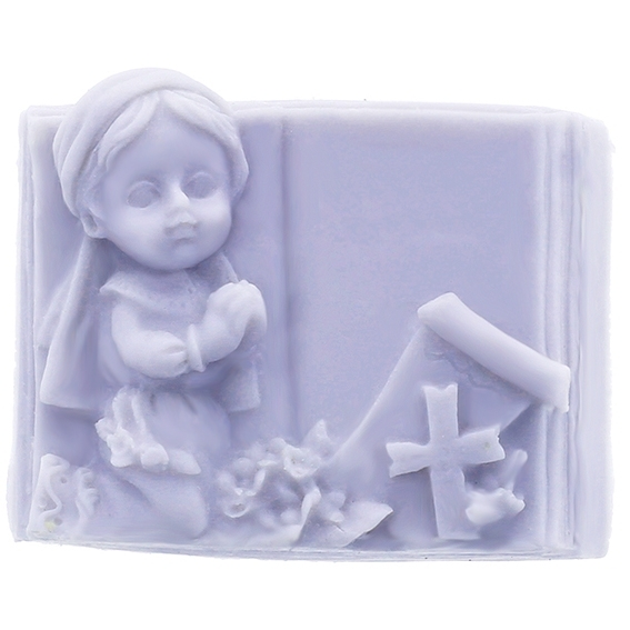Molde menina com biblia
