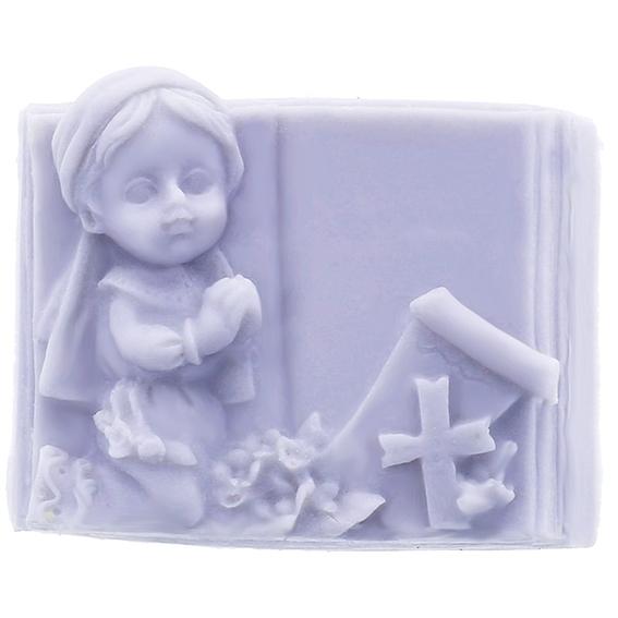 Molde niña con biblia