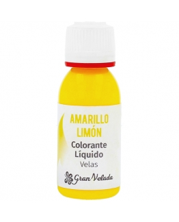 Colorante liquido velas amarillo limon