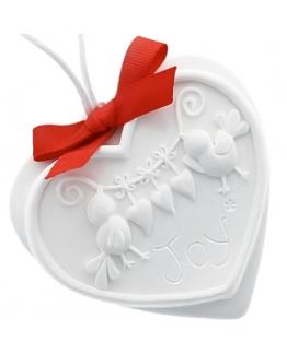 Ceramica perfumada corazon con pajaritos