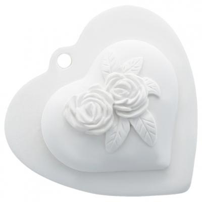 Molde ceramica perfumada corazon floral