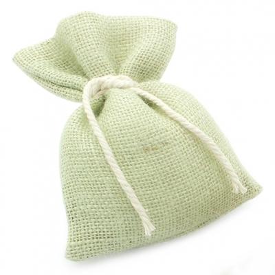 Saquinhos de serapilheira Verde com Cordão de Algodão 10 x 16 cm.