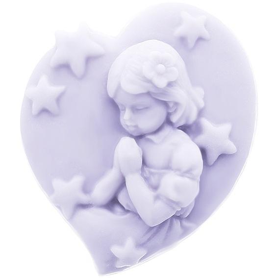 Molde corazon con niña de comunion