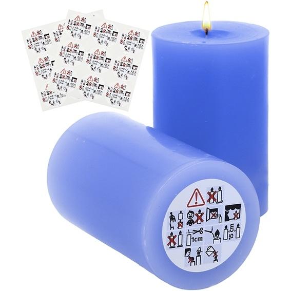 Pegatinas de seguridad para velas