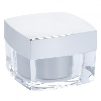 Tarro para crema cuadrado acrilico