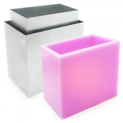 Molde fanal rectangular metal 17x10x15 cm