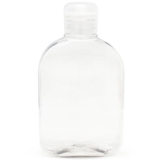Botella pet petaca 250 ml tapon bisagra