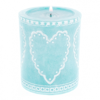 Molde de velas diseño romantico