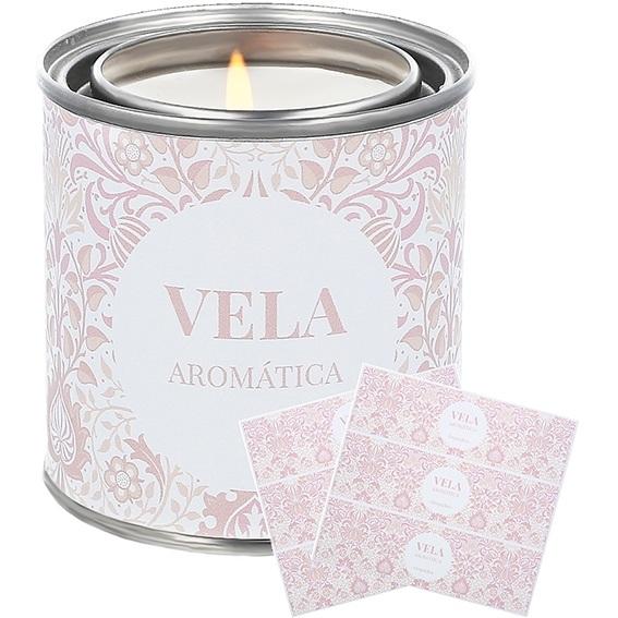 Adesivos personalizaveis flores persas tom rosa