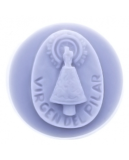 Molde virgen del pilar redonda