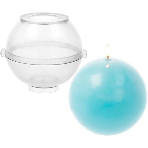 Molde transparente redondo para velas 6,5 cm