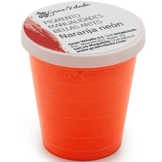 Pigmento naranja neon para manualidades