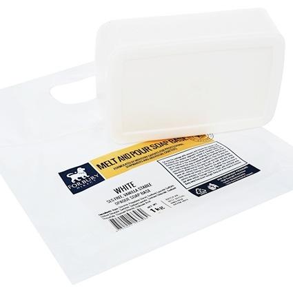 Base glicerinada sabao branco sem sls 1kg