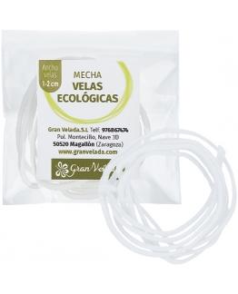 Mecha para velas ecologicas 1-2 cm