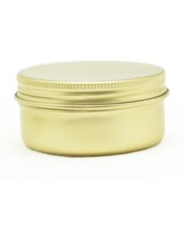 Tarro de aluminio dorado 50 ml