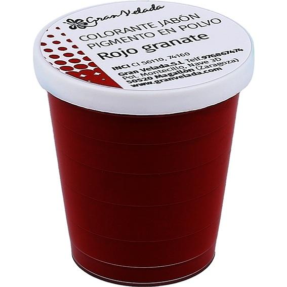 Pigmento en polvo jabon granate