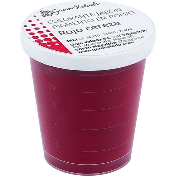 Pigmento jabon rojo cereza en polvo