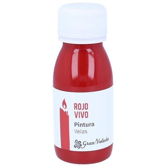 Pintura rojo vivo para velas